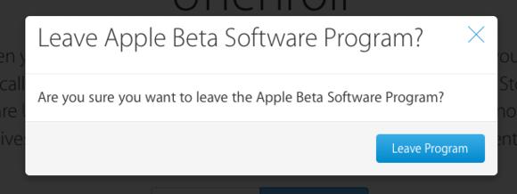 mac911 leave ios beta program