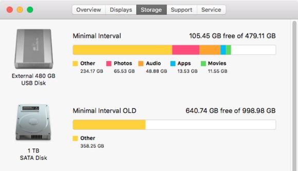 mac911 os x about storage