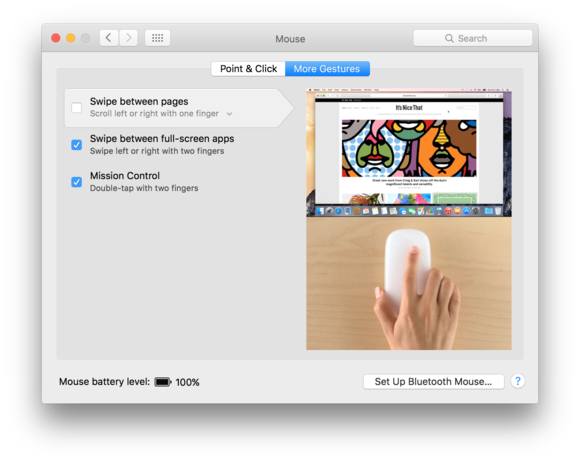 magic mouse 2 gestures