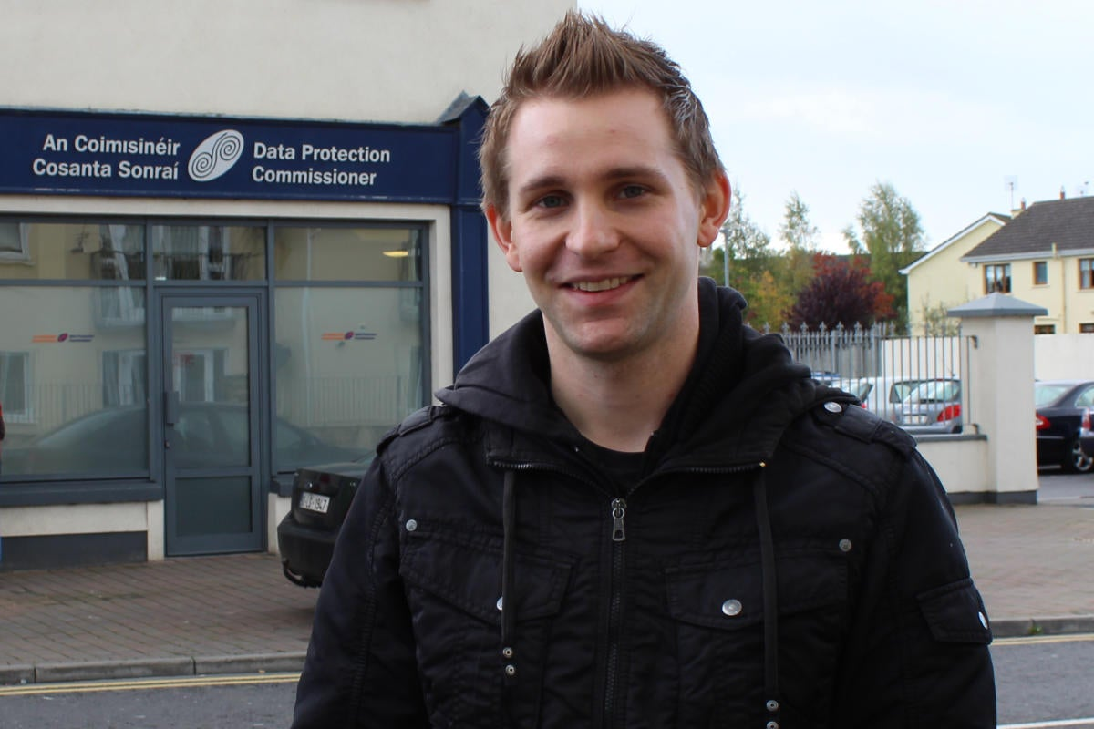 Max Schrems at irish dpc