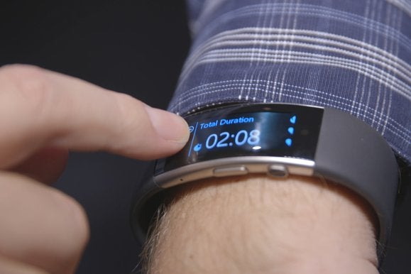 microsoft band on wrist