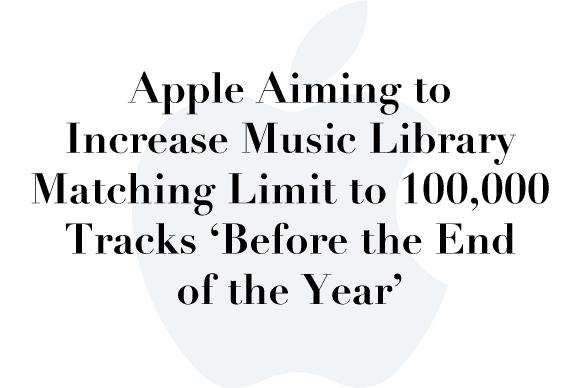 music library matching limit