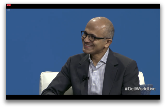 Satya Nadella Microsoft CEO Dell World 2015