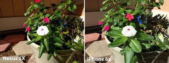 nexus 5x vs iphone bright
