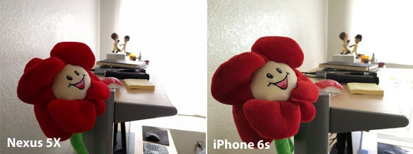 nexus 5x vs iphone indoor