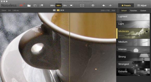 noiseless cup preset 100
