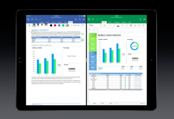office split screen ios 9