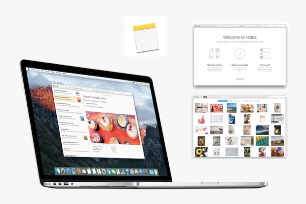 Apple, Notes, OS X, OS X El Capitan, iOS, Macintosh
