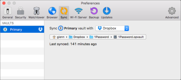 privatei 1password vault change