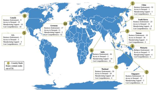 Solar panel map
