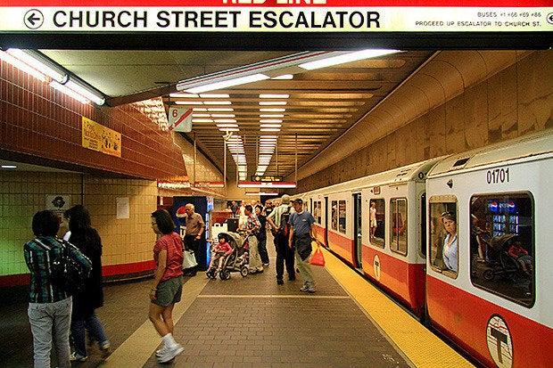 red line mbta subway boston