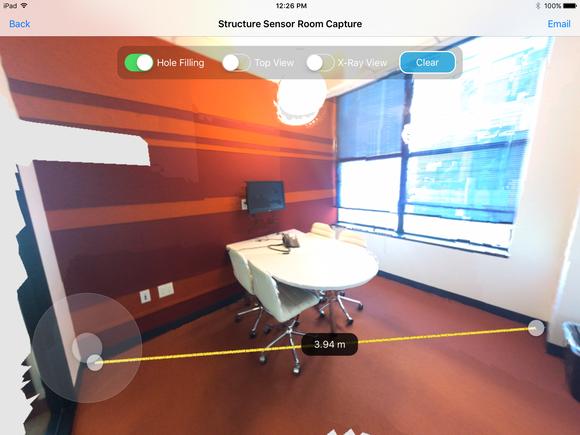 room capture structure sensor