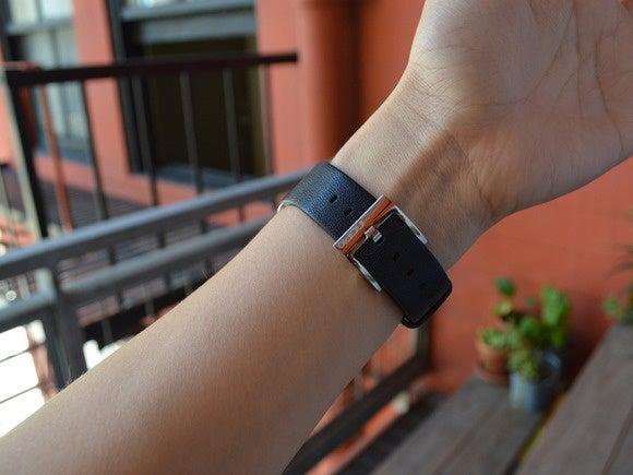 sarah incipio premium leather on wrist 2