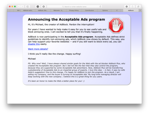 adblock for chrome signs on to eyeo s acceptable ads whitelist cio