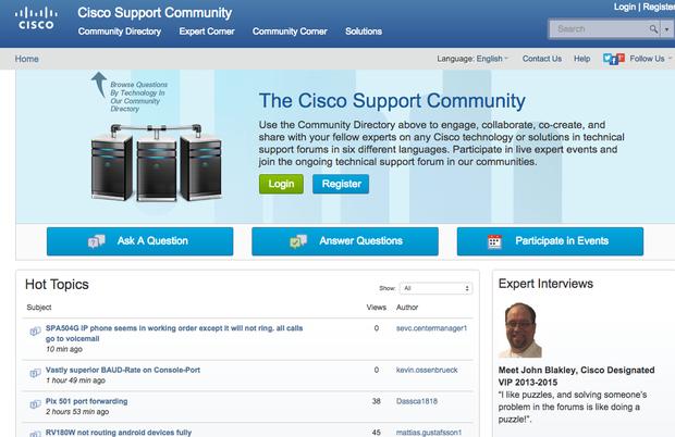 Cisco support community