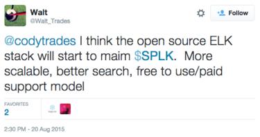 tweet about splunk and elk stack