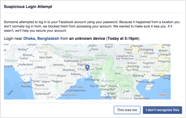 Facebook thinks I'm in Bangladesh