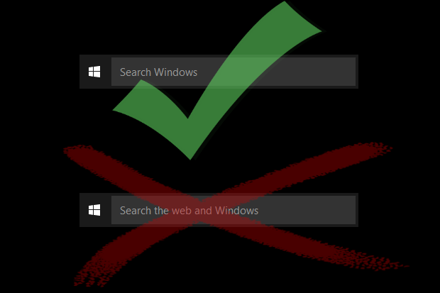 How to disable 39 search the web and windows 39 on the windows for Web and windows