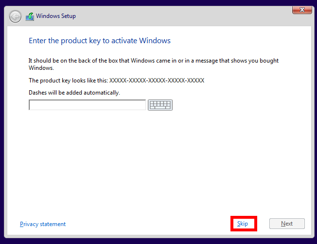 How to upgrade from pirated windows to legitimate windows 10 pcworld just press skip when asked for a product key ccuart