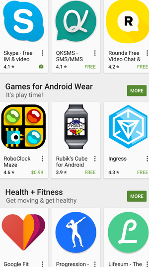 Android Wear apps