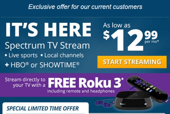 Spectrum streaming-TV service