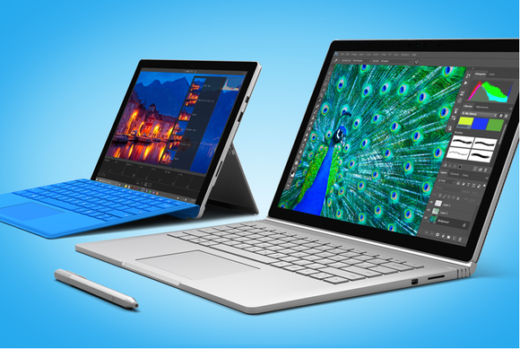 Image result for microsoft surface pro 4 and book ad