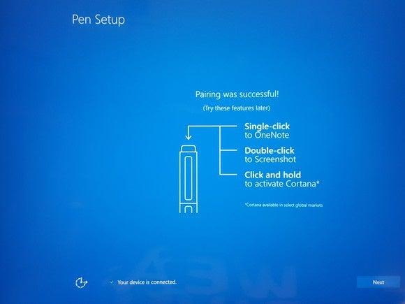 surface pro 4 setup pen