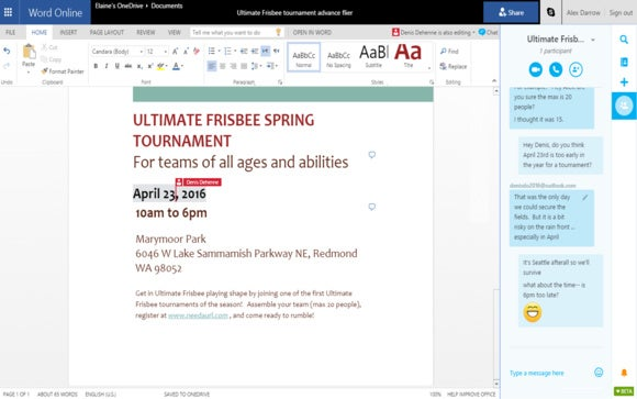 Microsoft Office updates include Skype for Office Online and a