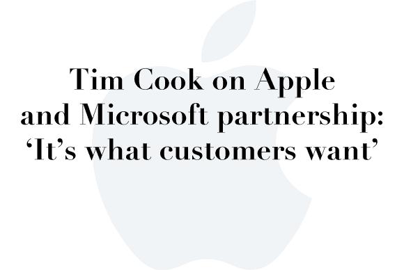 tim cook apple microsoft