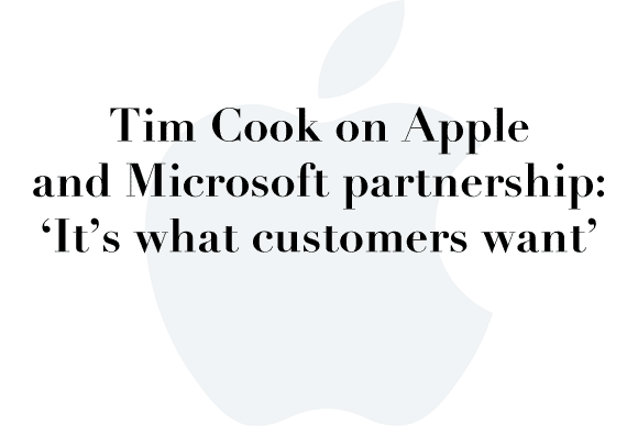 tim cook apple microsoft