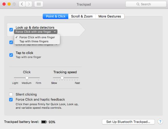 trackpad prefs force click