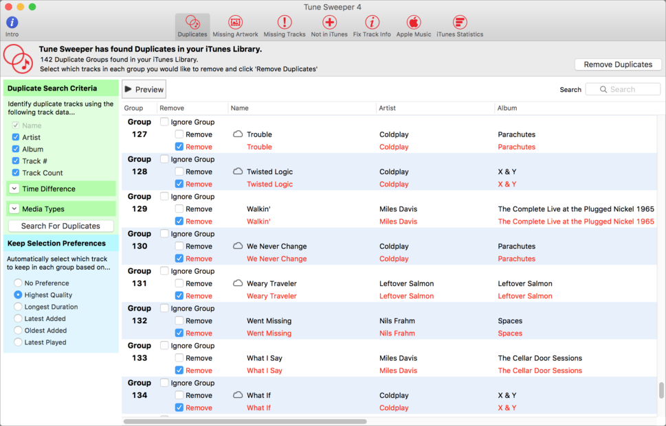 Tune Sweeper 4 review: Slow performance hinders iTunes