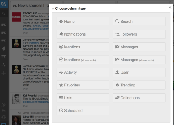 twitter tips tweetdeck columns