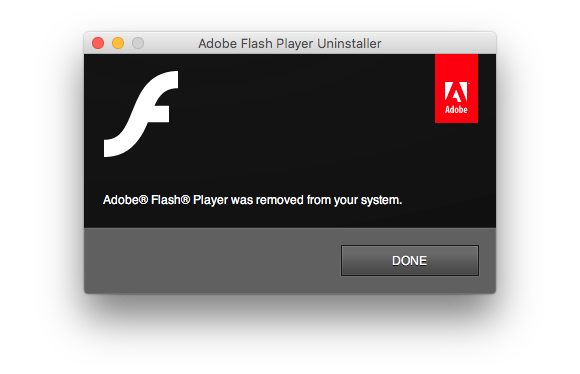 uninstall flash step5