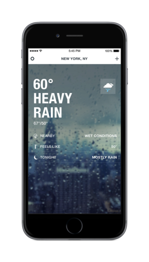 weather channel ios home