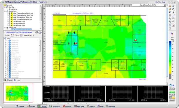 AirMagnet Survey heatmap