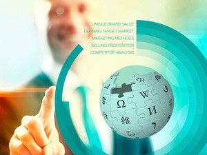 Wikipedia marketing globe smile
