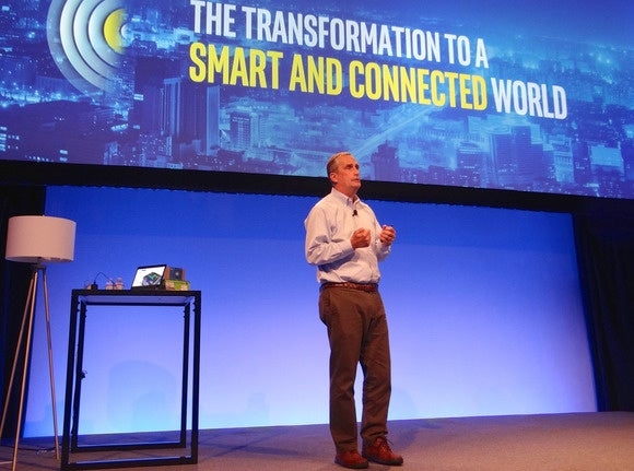 Brian Krzanich on stage