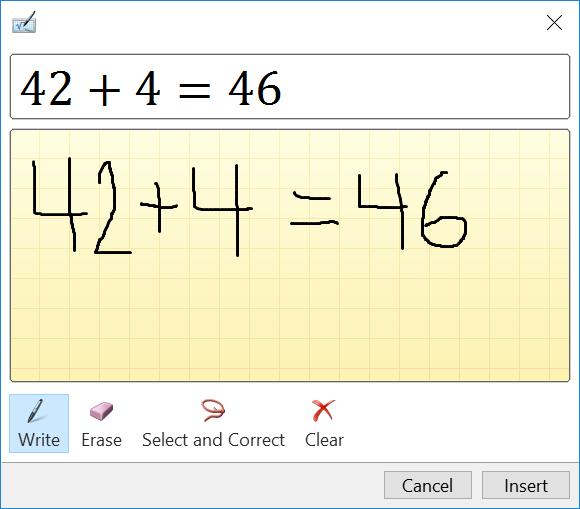 Handwrite a math problem or an equation