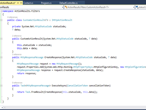 Action Result in Web API