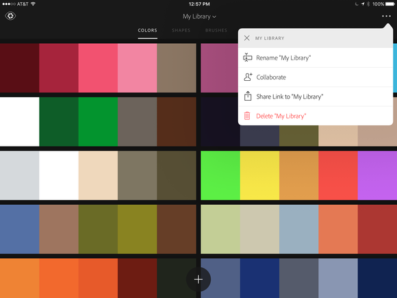 adobe capture cc ipad color themes