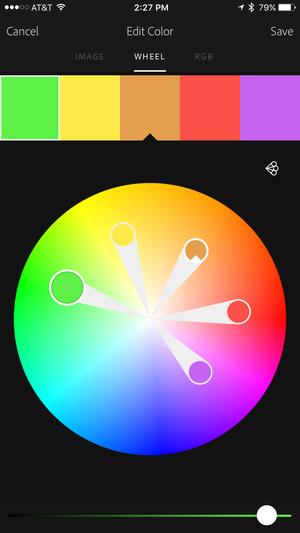 adobe capture cc iphone color edit