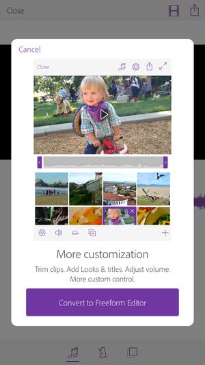 adobe premiere clip iphone convert to freeform