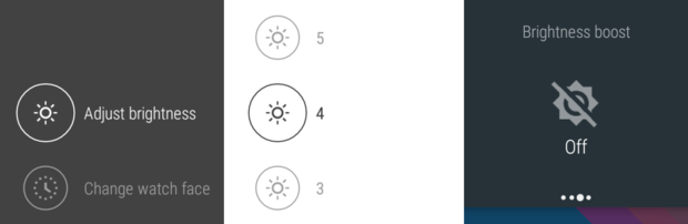 android wear battery brightness