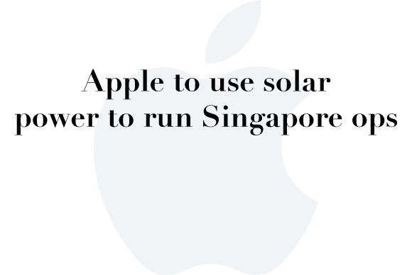apple solar singapore