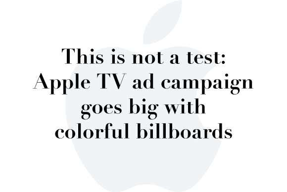 apple tv color billboards