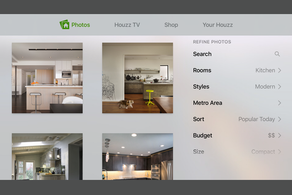 apple tv houzz