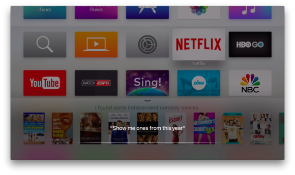 apple tv siri refine search