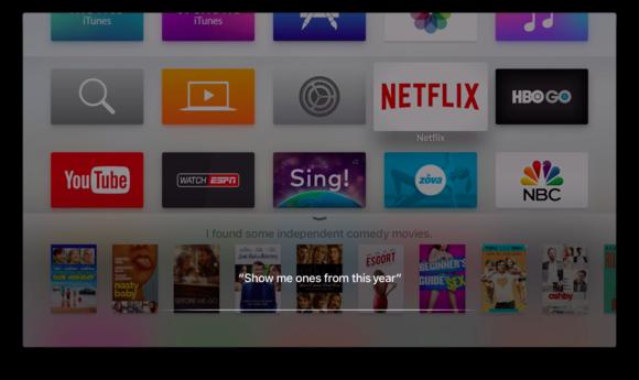 apple tv siri refine search