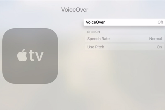 apple tv voiceover